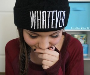 whatever, beanie, and hair image