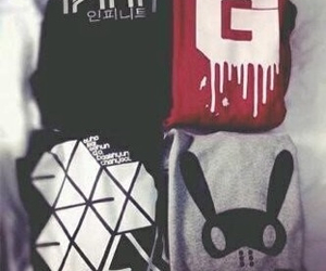 clothes, infinite, and b.a.p image