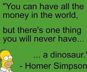 dinosaur, simpsons, and funny image