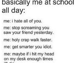 school, quotes, and hate image