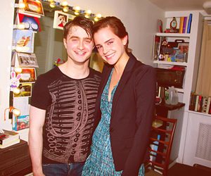 emma watson, daniel radcliffe, and harry potter image