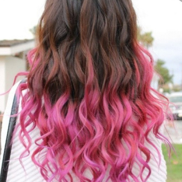 Pink Highlights For Brown Hair Hair Styling Tips