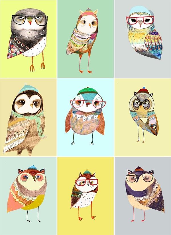 Hipster Owls Iphone Wallpaper Iphone Wallpaper