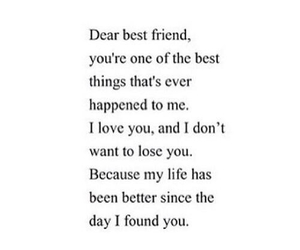 love, best friends, and quote image