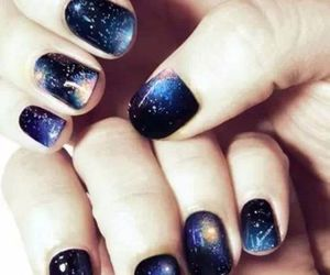 nails, galaxy, and nail art image