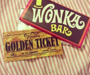 chocolate, wonka, and golden ticket image