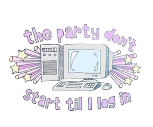 party, computer, and tumblr image