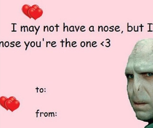 harry potter, voldemort, and valentines cards image