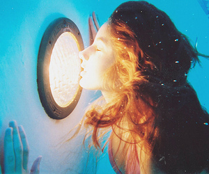 girl, water, and light image