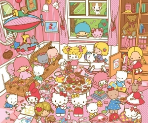 hello kitty, little twin stars, and my melody image