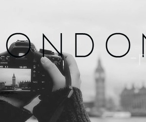 london, black and white, and boy image