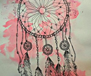 background, bohemian, and feathers image