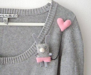 sweater, heart, and pink image