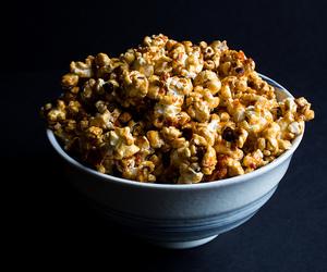 popcorn, caramel corn, and sriracha image