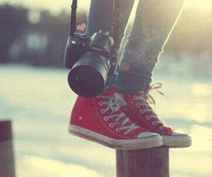 converse, red, and photography image