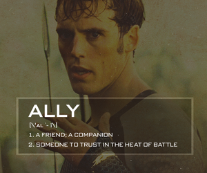 ally, finnick odair, and the hunger games image
