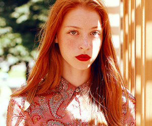 girl, beautiful, and redhead image