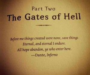 hell, hope, and quote image