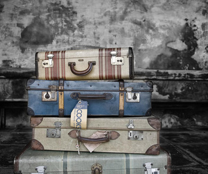 vintage, suitcase, and travel image