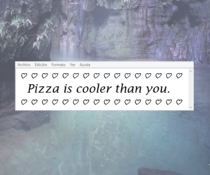 pizza, grunge, and quotes image
