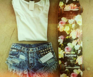 fashion, outfit, and skater image