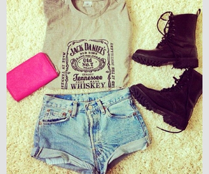 boots, fashion, and jack daniels image