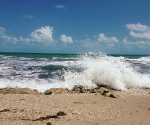 beach, board, and sky image