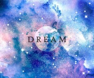 Dream, stars, and galaxy image