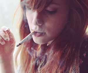 cigarette, girl, and redhead image