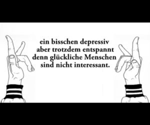 german, interessant, and depressiv image