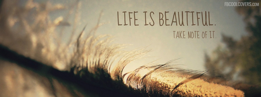 Life Is Beautiful Quotes Covers Life Inspirational Quotes Cover