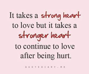 heart, strong, and love image