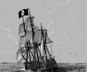 pirate and sea image