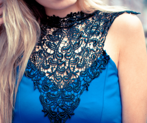 black, blue, and lace image