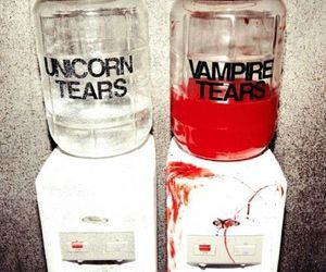 vampire, unicorn, and tears image
