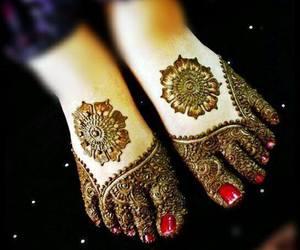 design, feet, and henna image