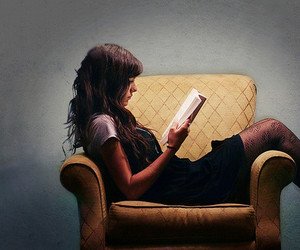 girl, read, and book image