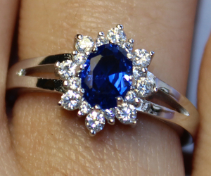 promise ring, sapphire ring, and sapphire promise ring image
