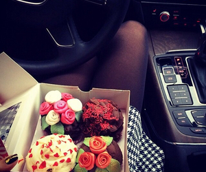 cupcake, car, and food image