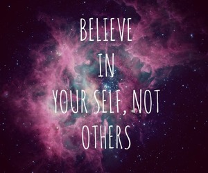 galaxy, quotes, and believe image