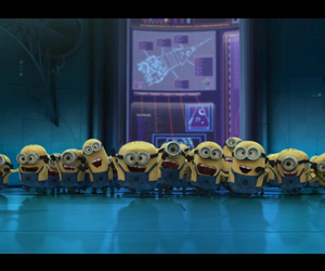 happy, minions, and time image