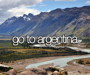 argentina, travel, and bucket list image