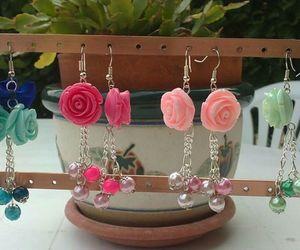 earrings, handmade, and jewelry image