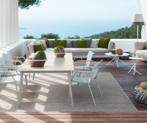 armchair, outdoor, and dining table image