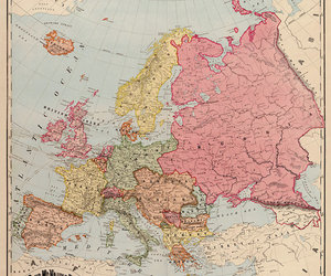 fine art, map art, and europe map image