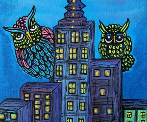 birds, city, and colorful image