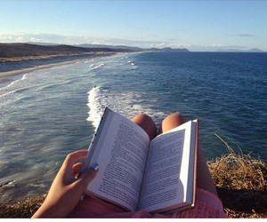 book, sea, and summer image