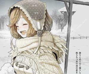 anime, winter, and anime girl image