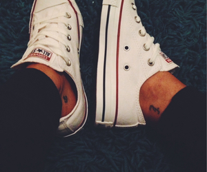 all star, anchor tattoo, and fashion image