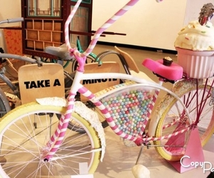 bike, candy, and pink image